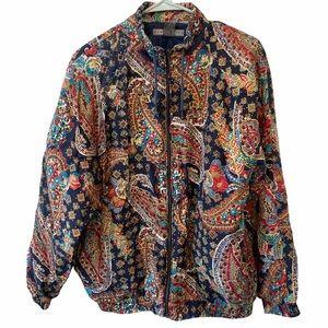 Robert Stock Silk Crop Paisley Jacket Medium